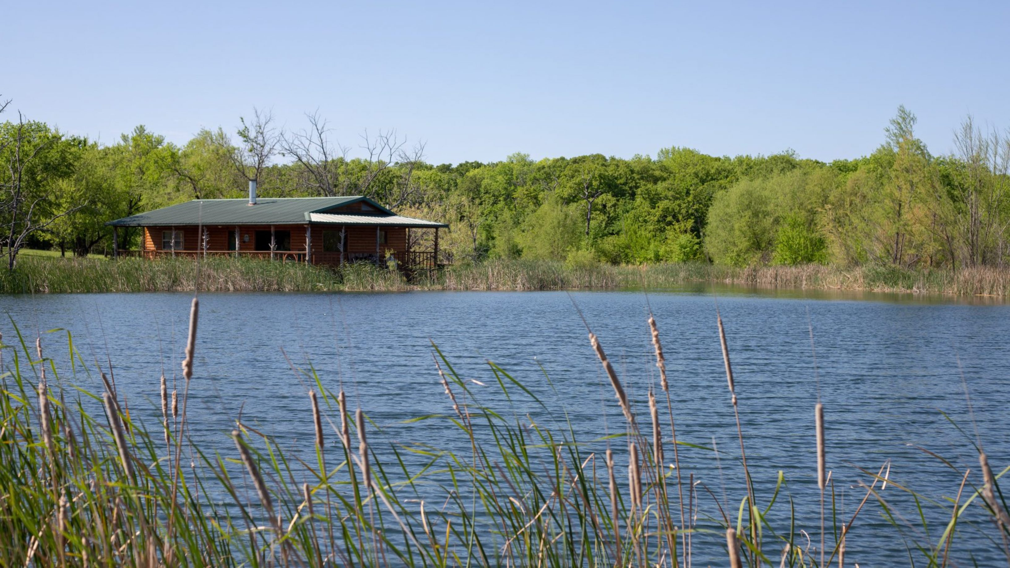 lake cabin front view